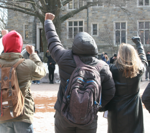FILE PHOTO: ERICK CASTRO FOR THE HOYA Demonstrations this past week drew attention to the campaign for the addition of a diversity requirement to the core curriculum.