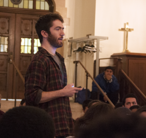 On Sunday, a town hall saw a speech from cartoonist Dylan Cutler (COL '16).