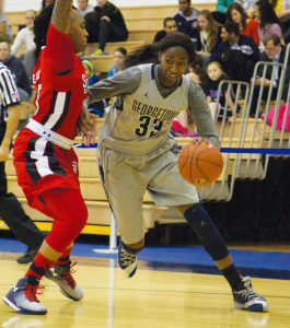JULIA HENNRIKUS/THE HOYA Junior forward Brittany Horne is averaging 8.5 points, good for third-best on the team, and 20.8 minutes per game.