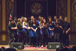 FILE PHOTO: JULIA ANASTOS FOR THE HOYA While a cappella groups like the Phantoms have less of a problem getting funds from PAAC, the academic music program has chronically struggled with a mere $15,000 budget and fees for performance spaces.