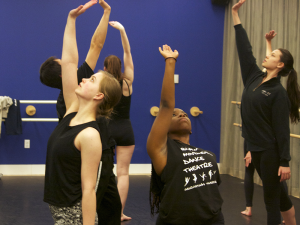 "SOPHIE FAABORG-ANDERSON/THE HOYA The Black Movement Dance Theater is preparing for ""Truth Be Told,"" a showcase influenced by the ideas of Martin Luther King, Jr. that will be on Feb. 27 and 28."