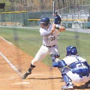 FILE PHOTO: MICHELLE XU/THE HOYA Junior catcher Nick Collins hit two home runs, his second and third of the year, and batted in three runs in Georgetown's 8-2 victory over UMES.