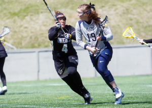JULIA HENNRIKUS/THE HOYA Senior attack Caroline Tarzian scored two goals in Georgetown's 10-6 victory over Vanderbilt on Saturday. Tarzian leads all players on the team with 12 goals and 17 points on the season.