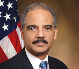 COURTESY ERIC HOLDER U.S. Attorney General Eric Holder announced his retirement in September and will likely step down in the next two weeks.
