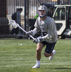 FILE PHOTO: CLAIRE SOISSON/THE HOYA Senior attack Bo Stafford made a key contribution to Georgetown's offense in its win over Villanova, scoring two goals and recording four assists.
