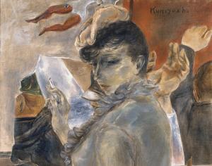 COURTESY SMITHSONIAN AMERICAN ART MUSEUM 20th-century artist Yasuo Kuniyoshi used visual mediums to portray his hard life during World War II.