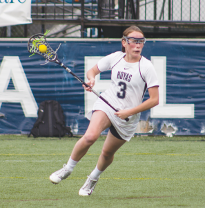 FILE PHOTO: CLAIRE SOISSON/THE HOYA Sophomore attack Colleen Lovett led Georgetown with four goals and three assists in the team's 11-10 loss to third-seeded Connecticut in the semifinals of the Big East tournament. Lovett had 21 goals and 12 assists this season.