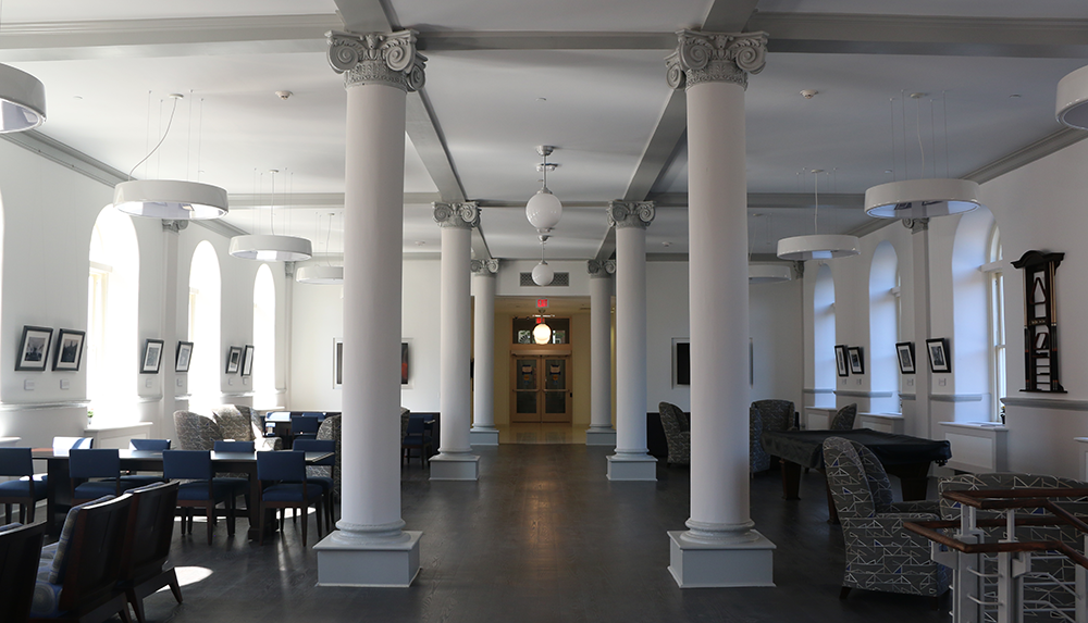 ISABEL BINAMIRA/THE HOYA  The Spirit of Georgetown Residential Academy occupies the site of the former Jesuit Residence, and features unparalleled amenities and space.