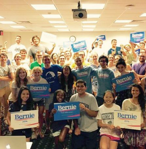 """FACEBOOK """"Georgetown for Bernie 2016"""" has amassed the most popular support on social media of all election groups thus far."""