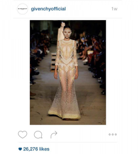 GIVENCHY/INSTAGRAM  The Givenchy show, attended by Kanye West and NIcki Minaj, as shared on the brand's Instagram.