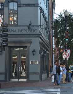 KATHLEEN GUAN/THE HOYA A group message among local retailers, intended to expose potential shoplifters, was shut down following allegations of racial profiling.