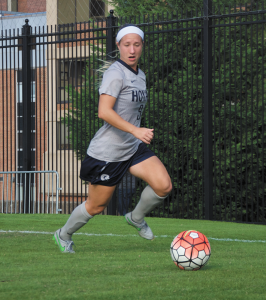 FILE PHOTO: ELIZA MINEAUX FOR THE HOYA Senior forward Crystal Thomas has scored five goals and recorded three assists this season. Thomas has started 14 of 15 games in 2015.