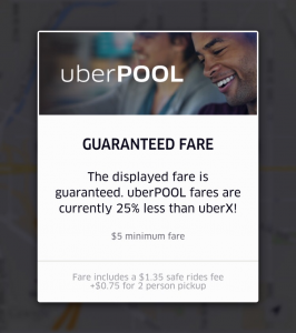 COURTESY UBER UberPool, a feature that connects users to share an UberX vehicle, became available to Washington, D.C., riders Oct. 22.