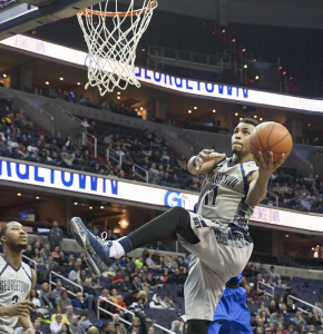 FILE PHOTO: MICHELLE XU/THE HOYA Sophomore forward Isaac Copeland recorded 6.8 points and 3.8 rebounds per game last season. Copeland appeared in all 33 games.