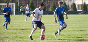 FILE PHOTO: ELIZA MINEAUX FOR THE HOYA Junior forward Alex Muyl has recorded five goals and a team-leading nine assists thus far in the 2015 season. As a freshman, Muyl was a unanimous member of the Big East All-Rookie Team, and in his sophomore season he was named to the All-Big East Second Team.
