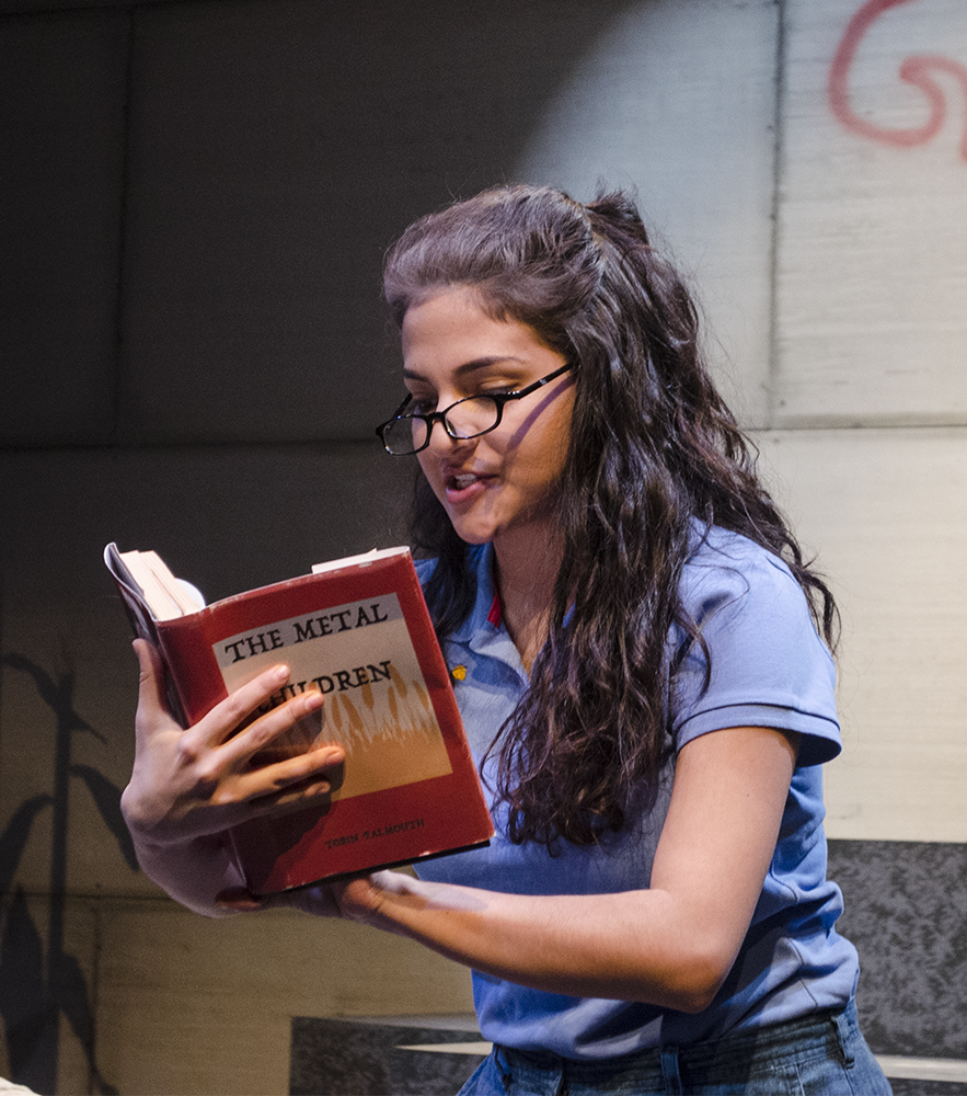 STANLEY DAI/THE HOYA Vanessa Chapoy (COL '18) takes on the role of Edith, a motel owner whose niece serves as the leader of a petition in support of the protagonist's controversial novel.