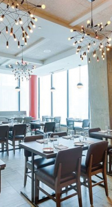 CONVIVIAL Convivial's upscale atmosphere is one of the many attractions for young diners.
