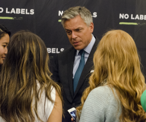Huntsman Promotes Bipartisan Dialogue