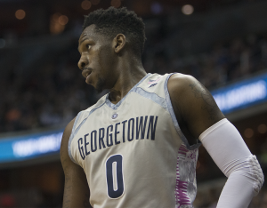 ISABEL BINAMIRA/THE HOYA Sophomore guard L.J. Peak scored 11, 19 and 22 points in Georgetown's consecutive games against Creighton, Providence and Butler, respectively.
