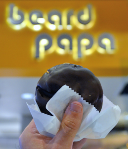 BEARD PAPA'S The dulce de leche cream puff is the must-have option at Beard Papa's.