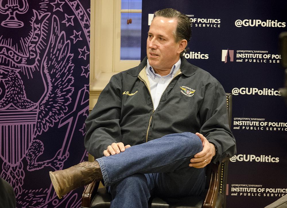 Santorum Talks Political Career, Liberal Culture