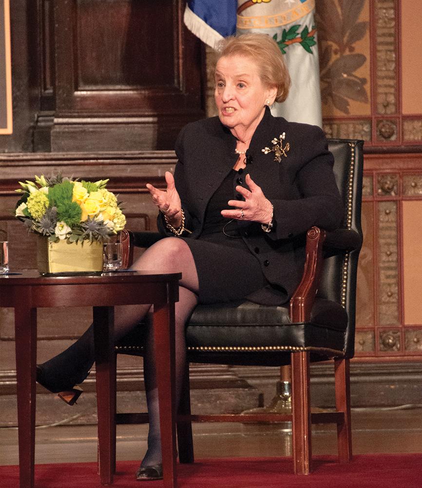 NAAZ MODAN/THE HOYA Former Secretary of Staye Madeleine Albrights gave the keynote address at the 10th anniversary celebration for the Berkley Center.