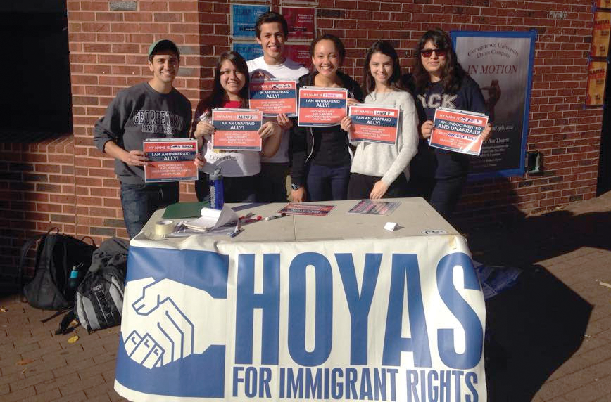 courtesy hoyas for immigrant rights Student advocacy group Hoyas for Immigrant Rights coordinated with UndocuHoyas to produce a petition.