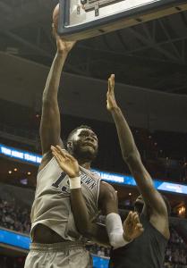 FILE PHOTO: ISABEL BINAMIRA/THE HOYA Freshman center Jessie Govan averaged 6.8 points per game and 4.1 rebounds per game.