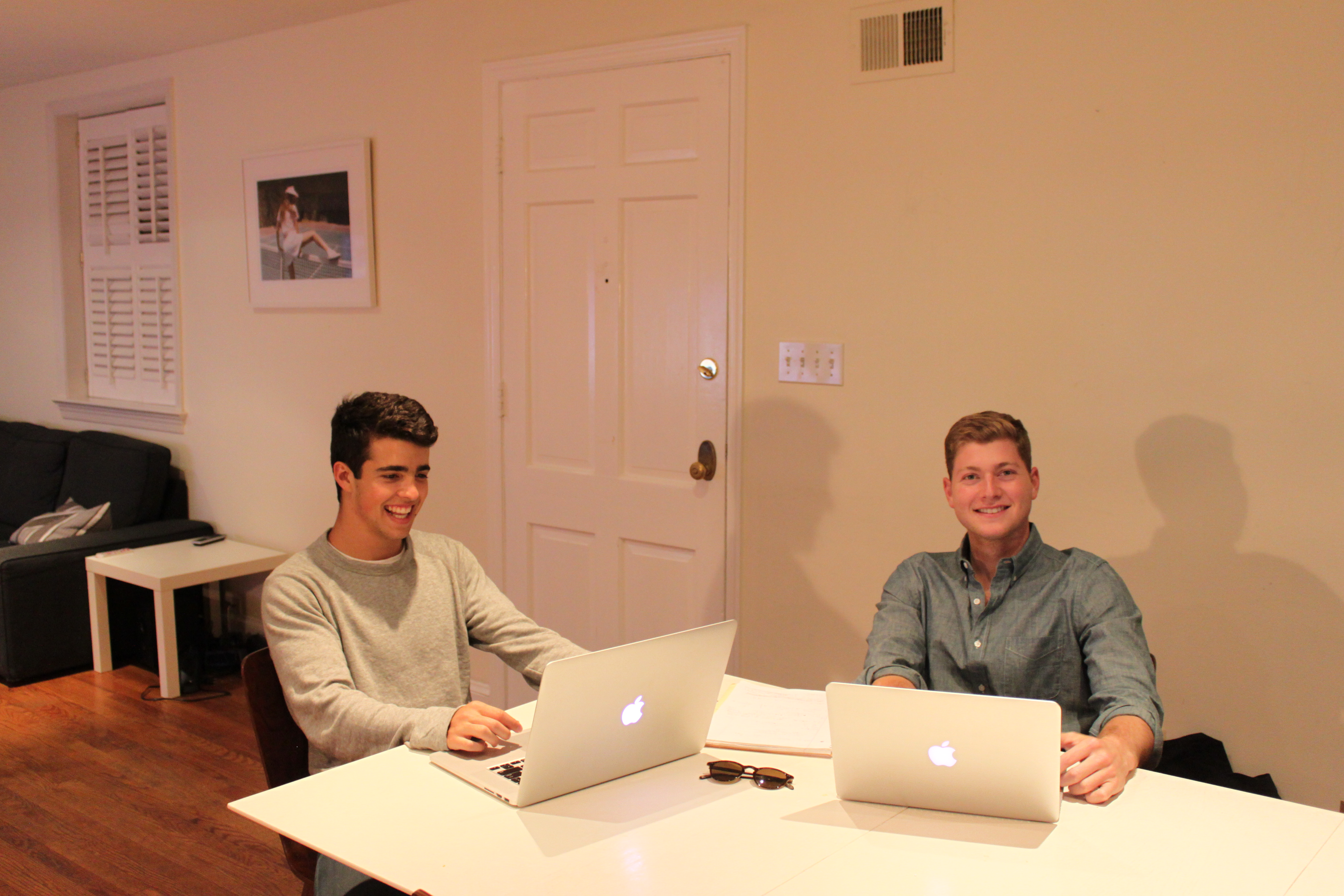 COURTESY KEVIN FLEISHMAN Founders of Outcome Tutoring, Alejandro Ernst (MSB '18) and Kevin Fleishman (MSB '18) work to develop their business. The company currently has 29 tutors and has tutored approximately 120 students in the past three weeks alone.