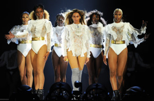 """BILLBOARD.COM Beyonce on stage in Miami for the first night of the """"Formation"""" world tour."""