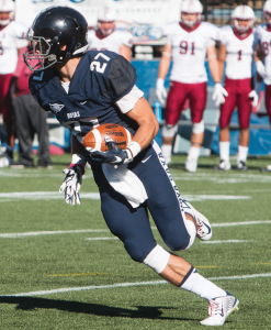 FILE PHOTO: KARLA LEYJA/THE HOYA Senior wide receiver Jake DeCicco started 11 games and had a team-high 60 receptions and 705 receiving yards this season.