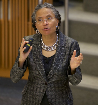 NHS GEORGETOWN President of the American Public Health Association Camara Jones discussed racism in health care.