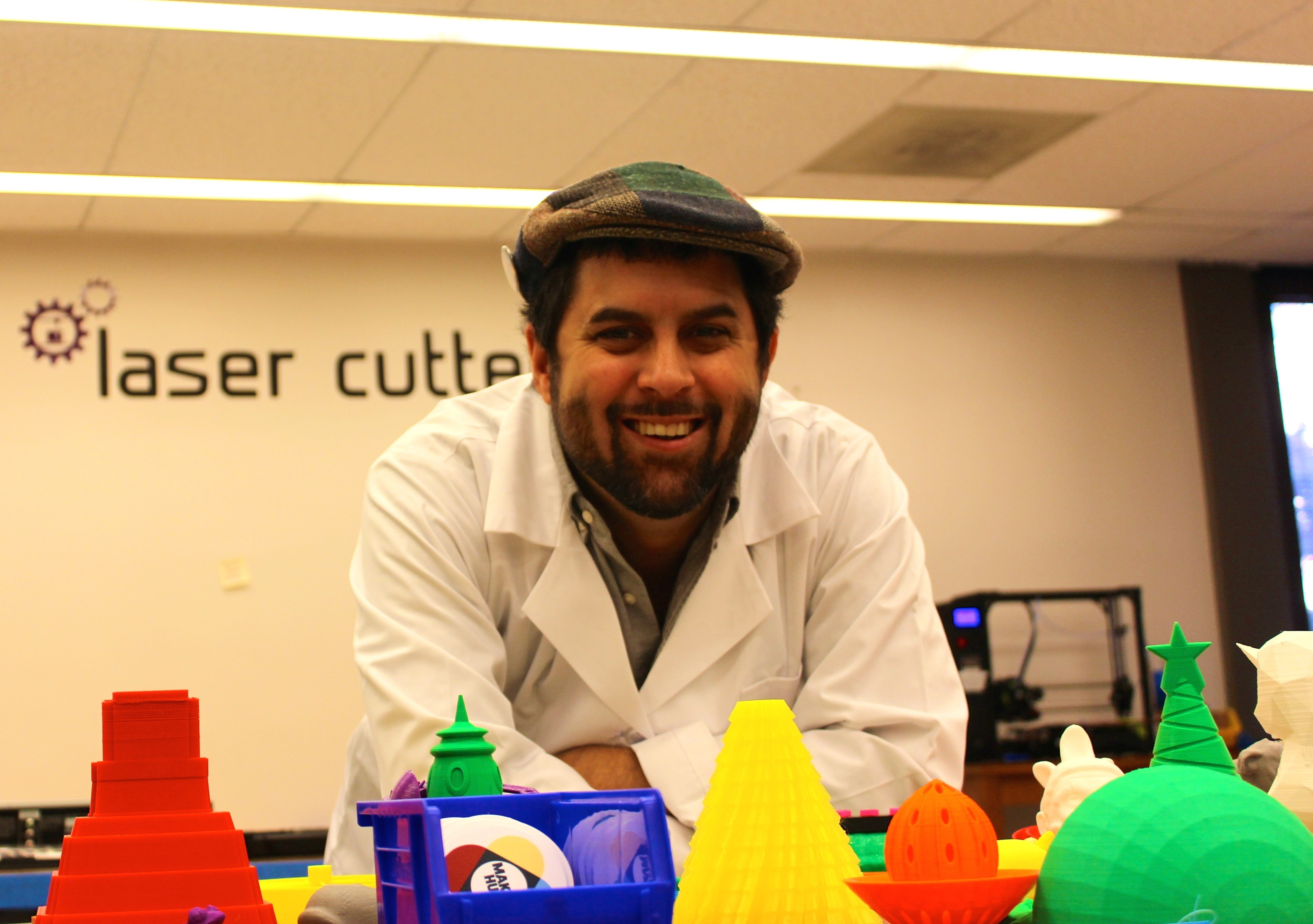 OWEN EAGAN/THE HOYA Maker Hub Manager Don Undeen was also invited to serve on the Vatican's first Arts and Technology Council. The Hub allows students to create objects for entrepreneurial reasons, or simply for fun.