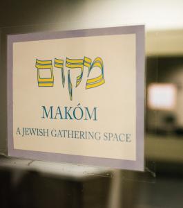 JINWOO CHONG/THE HOYA Anti-Semitic graffiti was found near the Makóm Jewish gathering space in Leavey Center.