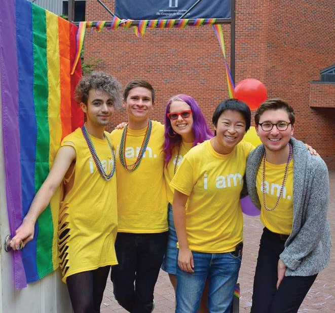 """COURTESY GU PRIDE """"Coming Out Day"""" marked the beginning of """"OUTober,"""" a six-week series of 14 events focusing on the personal and political histories of the LGBTQ community."""