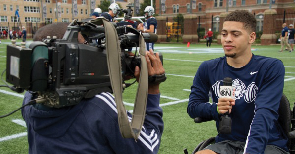 GEORGETOWN ATHLETICS Senior linebacker Ty Williams broke five bones in his neck in last season's first game at St. Francis (Pa.). He has spent the past year rehabilitating his injury and is currently limited to a wheelchair, with future prognosis uncertain.