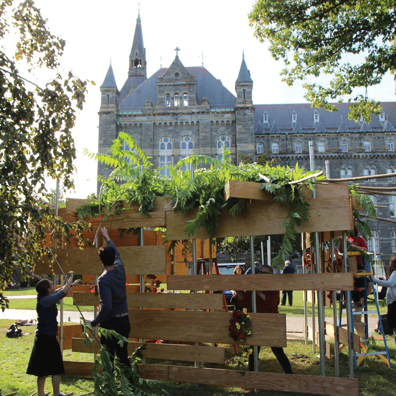 CAMPUS MINISTRY FACEBOOK Georgetown's Campus Ministry was awarded for its work to encourage community engagement, such as the building of the Sukkah.