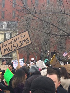 Demonstrators Gather at White House, Capitol to Protest Trump's Immigration Ban