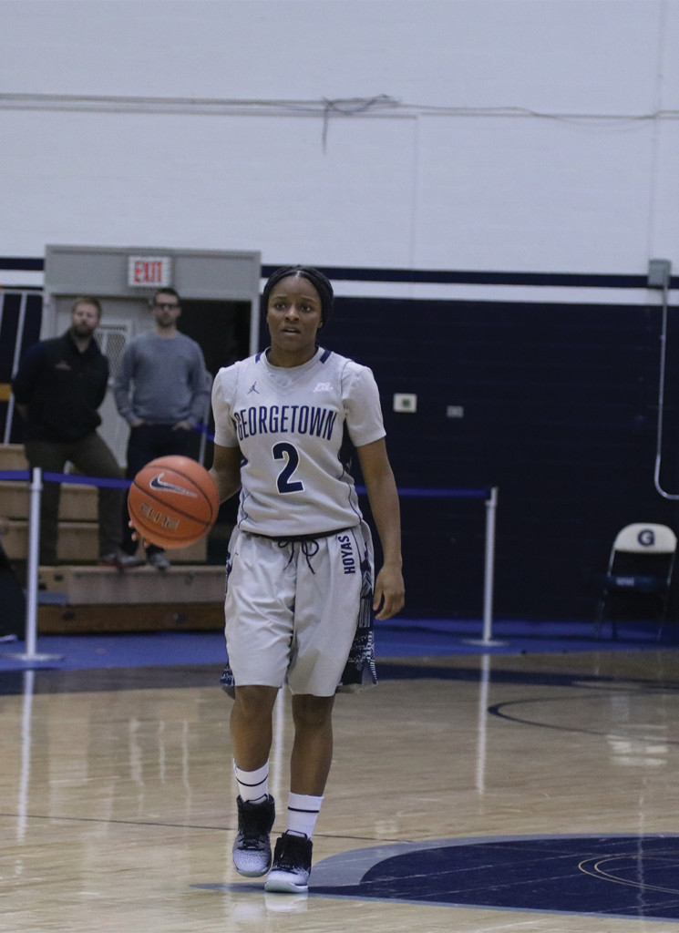 Women's Basketball | Hoyas Down Pirates, Fall to Red Storm on Road Trip