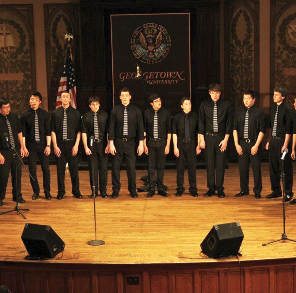 THE GEORGETOWN CHIMES The Georgetown Chimes is hosting two more showings of its annual a cappella festival, the Cherry Tree Massacre, on Feb. 11 and Feb. 25 in Gaston Hall.