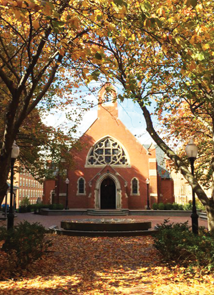 GEORGETOWN CAMPUS MINISTRY Dahlgren Chapel serves as a physical reminder for the Georgetown community of the Ignatian and Jesuit commitment to interreligious collaboration for spiritual harmony.