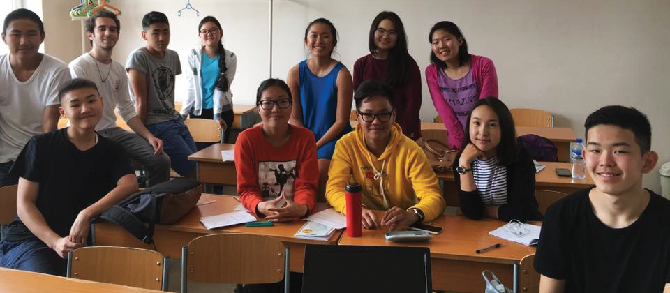 The author and her classroom of 10th graders on their last day of class together | COURTESY OF STELLA CAI