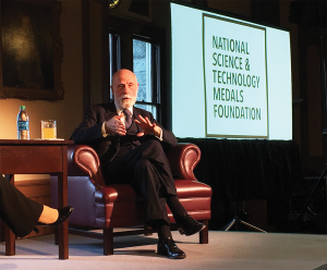 TAIT RYSSDAL/THE HOYA Co-inventor of the internet, Vinton Cerf talked about the importance of always being curious and maintaining a motivation to constantly innovate as of the main driver's behind his current life's work.