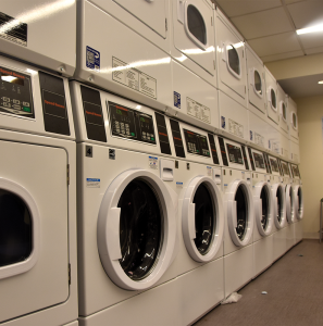 JESUS RODRIGUEZ/THE HOYA Room and board charges for the 2017-2018 school year will include the cost of 24 loads of laundry, the result of a joint effort between the Office of Residential Living and the Georgetown University Student Association.