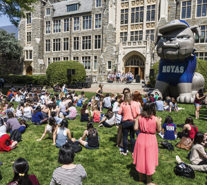 FILE PHOTO: ALEXANDER BROWN/THE HOYA GUSA will host a Save Georgetown Day event Tuesday in an effort to encourage responsible behavior on the day.