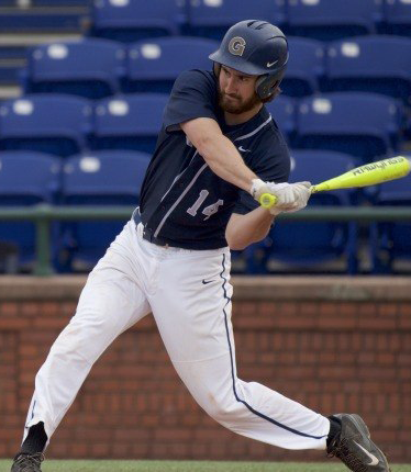 Senior infielder Jake Kuzbel hit two doubles and one home run in Georgetown's 3-1 victory over Cornell on Wednesday. Kuzbel leads the team with 30 RBIs. (COURTESY GUHOYAS)