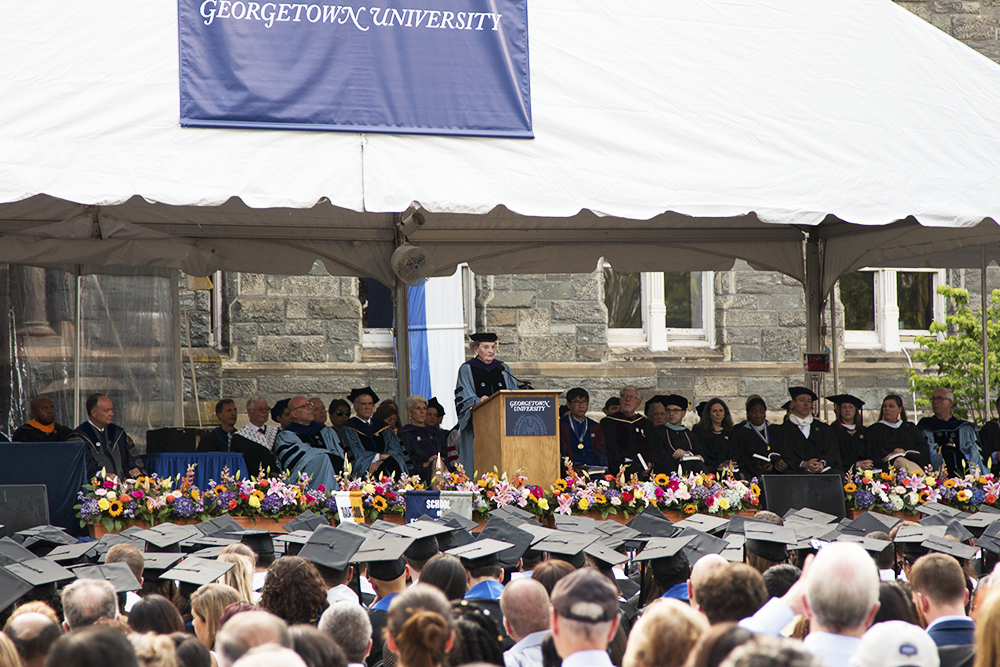 Albright Calls for Return to Democratic Values at SFS Commencement